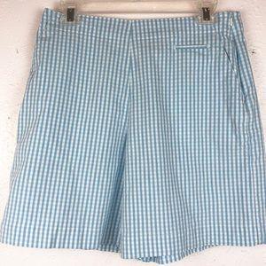 Talbots Plaid Blue And White Shorts